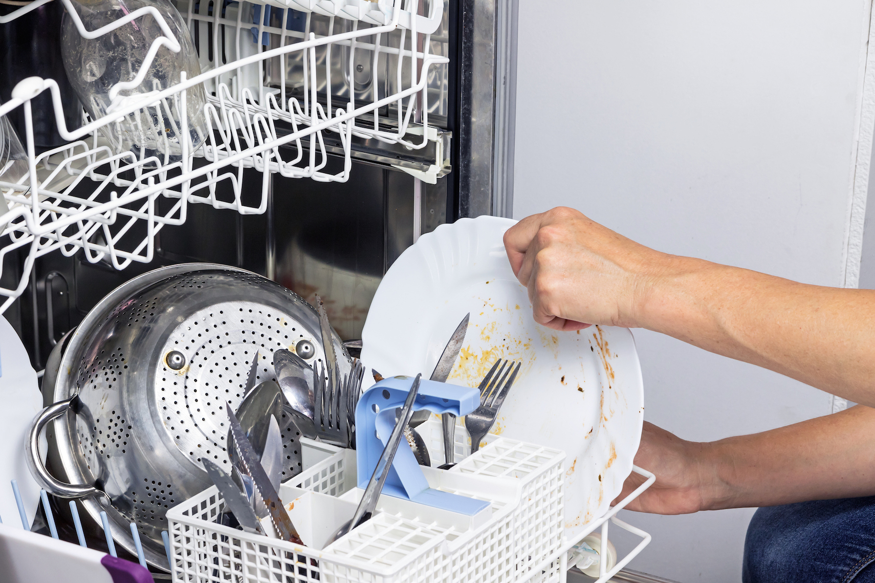 Rinse Dishes before putting in the dishwasher